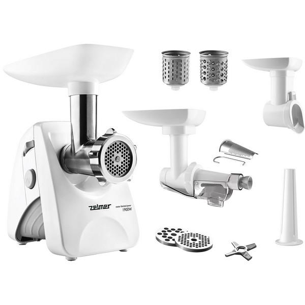 Zelmer ZMM4283W – masina de tocat cu accesoriu pentru umplerea carnatilor